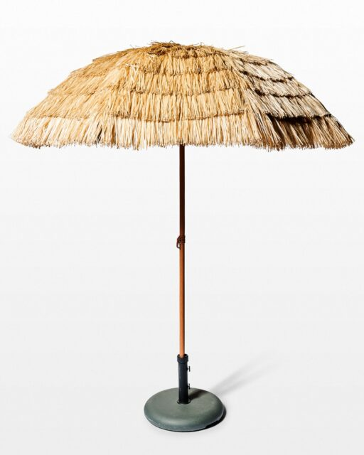Front view of Tiki Palapa Beach Umbrella