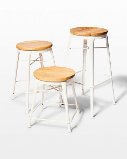 Front view of Gabby Stool Trio