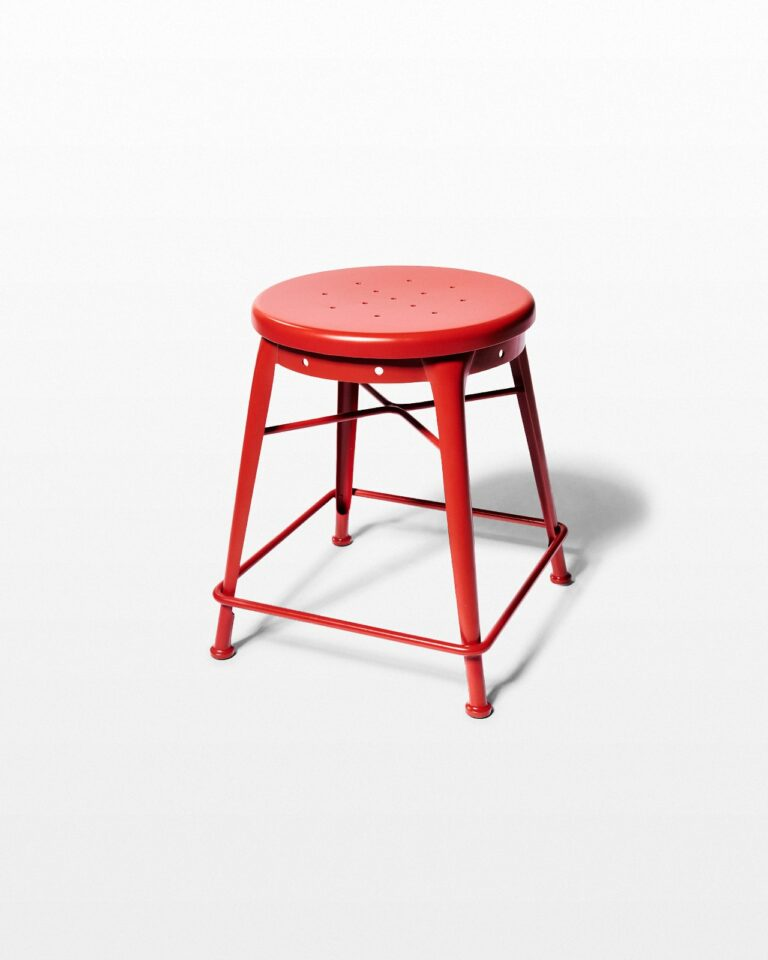 Front view of Spade Red Stool