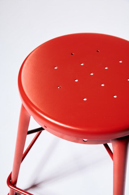 Alternate view 2 of Spade Red Stool