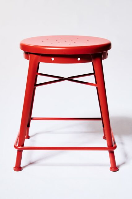 Alternate view 3 of Spade Red Stool