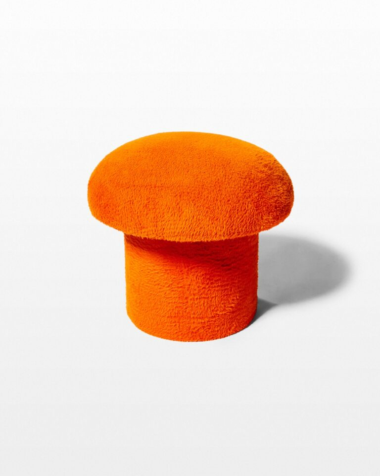 Front view of Valley Orange Mushroom Stool