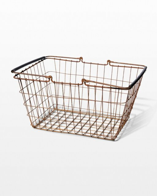 Front view of Humber Distressed Wire Basket