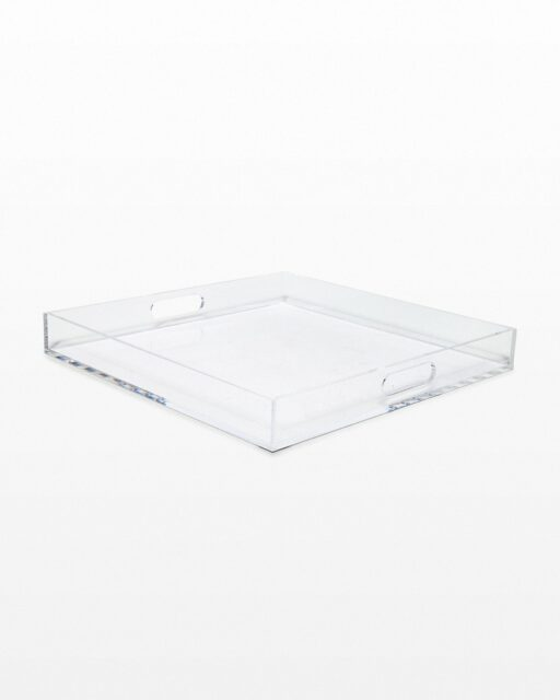 Front view of Theo 16″ Inch Crystal Acrylic Tray