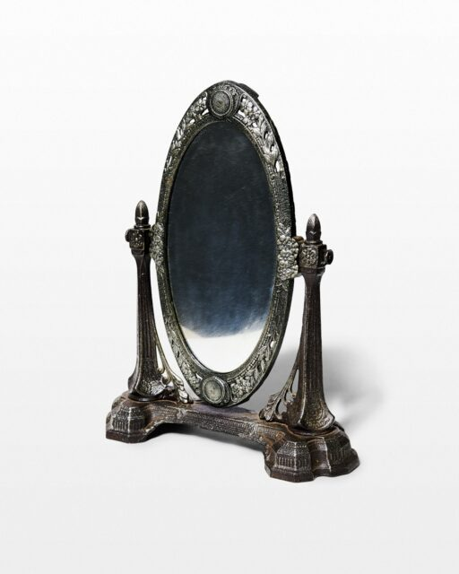 Front view of Bella Ornate Table Mirror