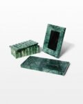 Front view thumbnail of Cortez Green Marble Vanity Desk Set