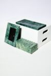 Alternate view thumbnail 5 of Cortez Green Marble Vanity Desk Set