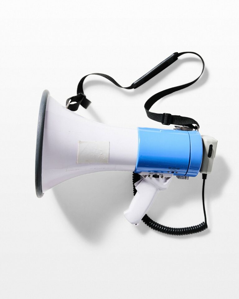 Front view of Rally Megaphone