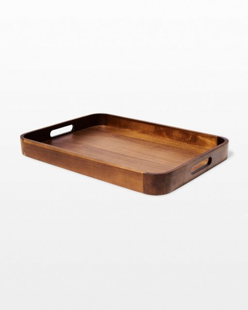 Front view of Rolfe Wooden Tray