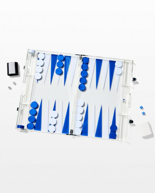 Front view of Port Acrylic Backgammon Set