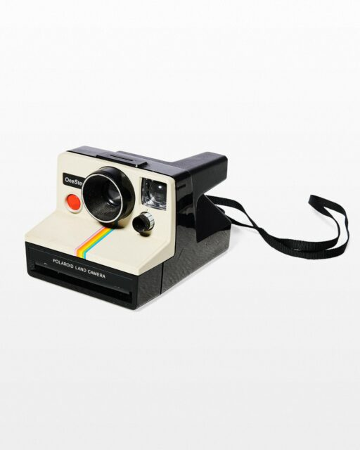 Front view of Rainbow SX-70 Polaroid Camera