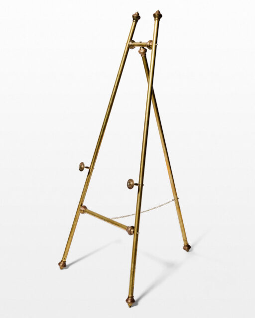 Front view of Look Brass Easel