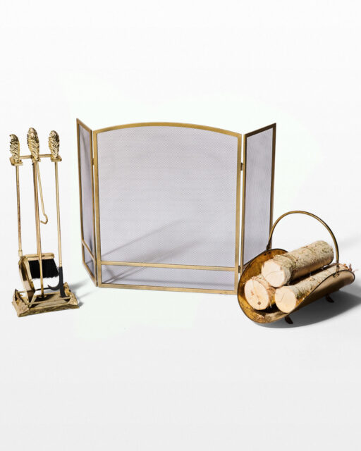 Front view of McAlister Fireplace Set