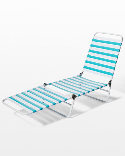 Front view of Crest Striped Beach Chair