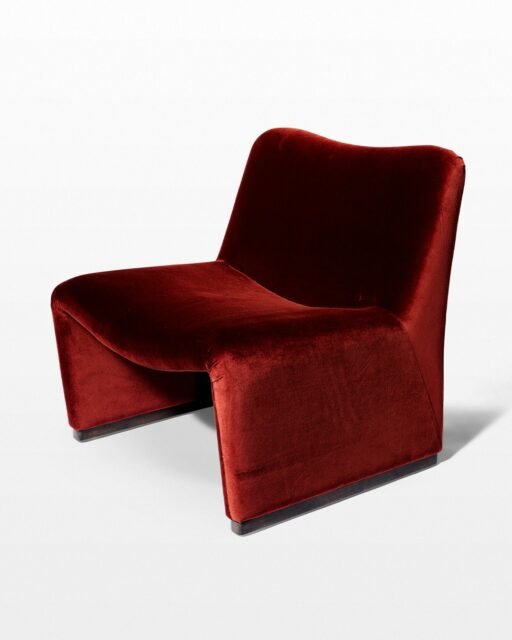 Front view of Paprika Lounge Chair