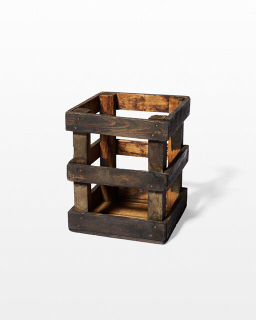 Front view of Leena Open Frame Wood Crate