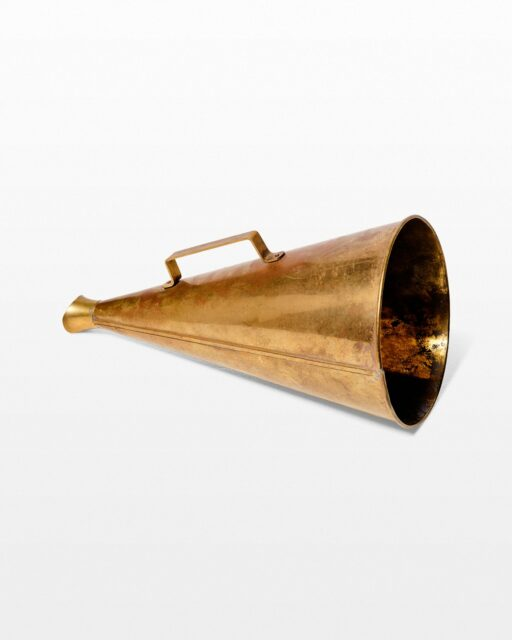 Front view of Bili Brass Megaphone