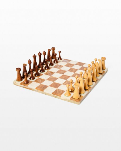 Front view of Baritone Chess Set