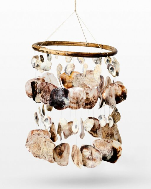 Front view of Cay Seashell Windchime