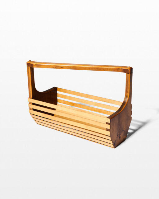 Front view of Slide Wooden Basket