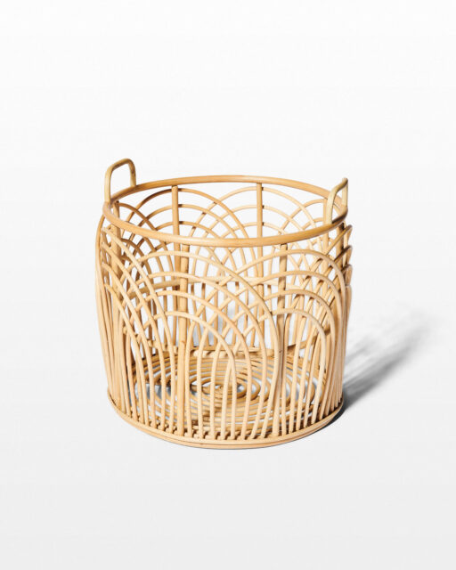 Front view of Emilia Large Rattan Basket