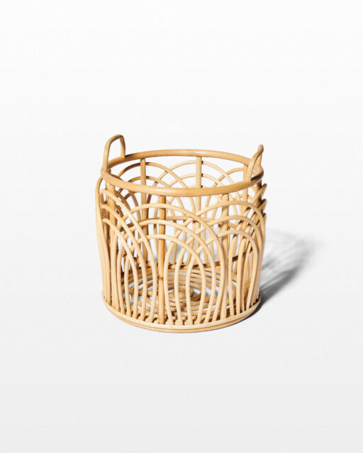 Front view of Lee Rattan Basket