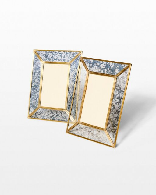 Front view of Mercury Glass Picture Frame Pair