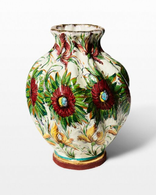 Front view of Marie Floral Painted Vase