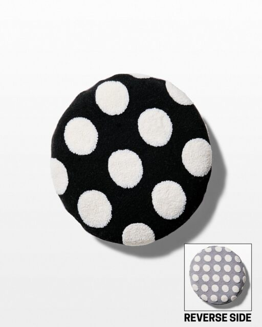 Front view of Pizazz Polka Dot Pillow