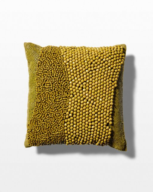 Front view of Varni Beaded Throw Pillow