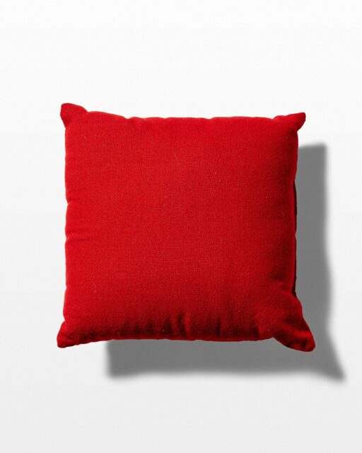 Front view of June Red Pillow