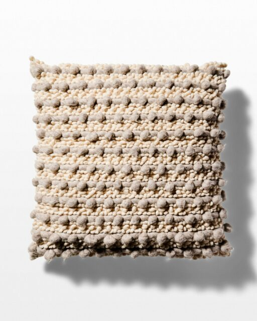 Front view of Wool Pom Pillow