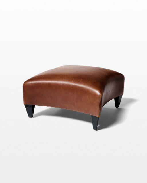 Front view of Kensington Leather Ottoman