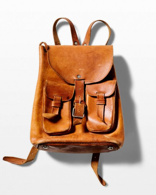Front view of Mia Leather Backpack