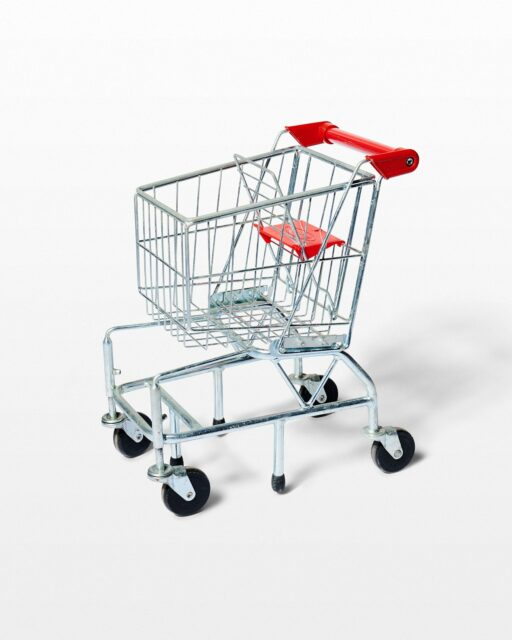 Front view of Kids Size Supermarket Shopping Cart