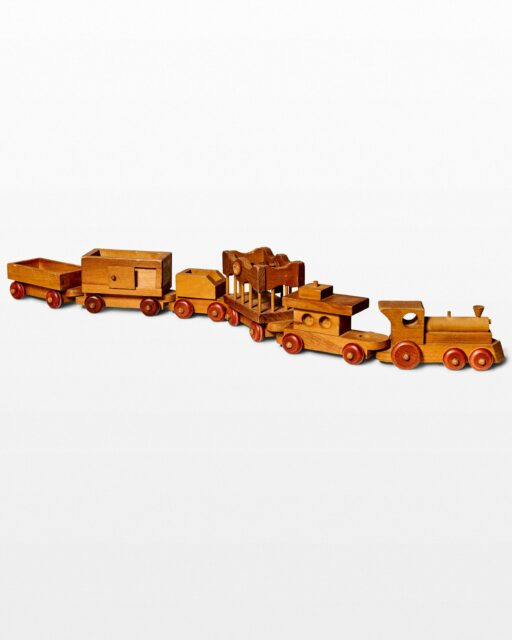 Front view of Leo Wooden Train Toy