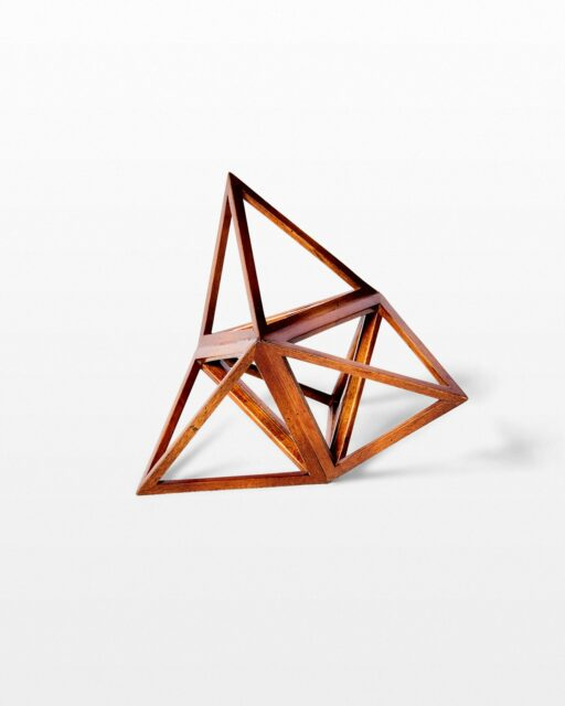 Front view of Angle Geometric Wooden Object