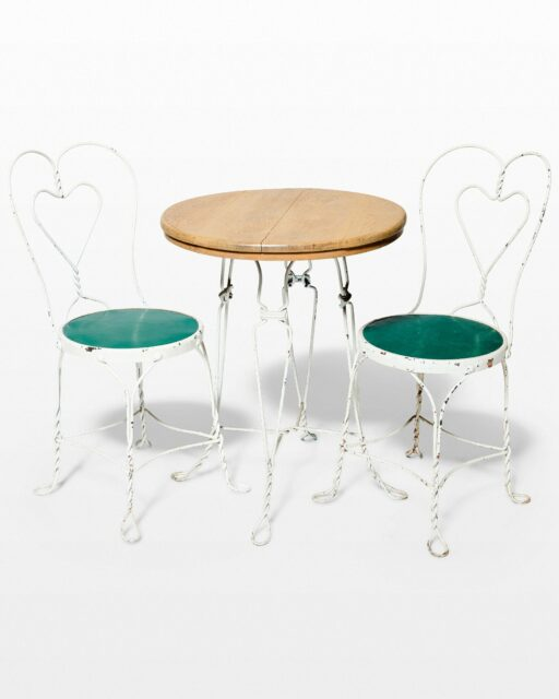 Front view of Adore Bistro Table and Chair Set