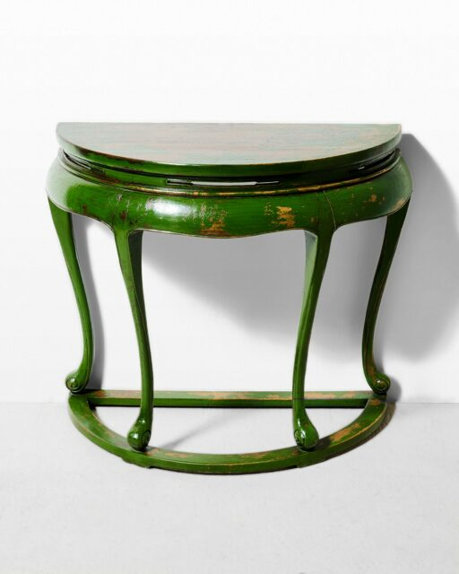 Front view of Saga Demilune Console Table