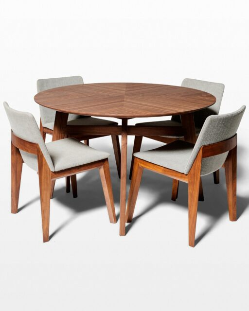 Front view of Nudge Table and Axis Chair Set