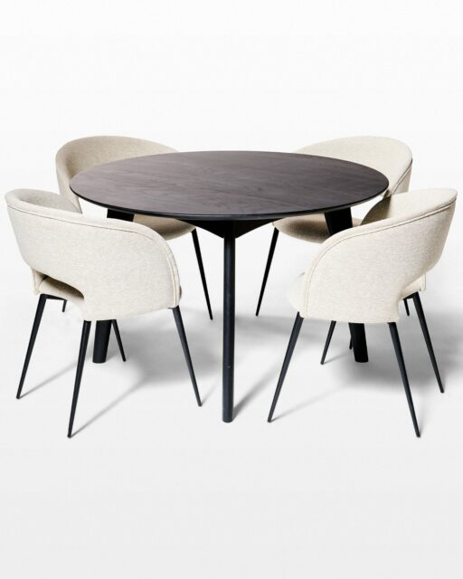 Front view of Cove and Auden Dining Set
