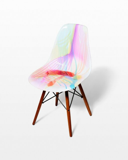 Front view of Color Drip Chair