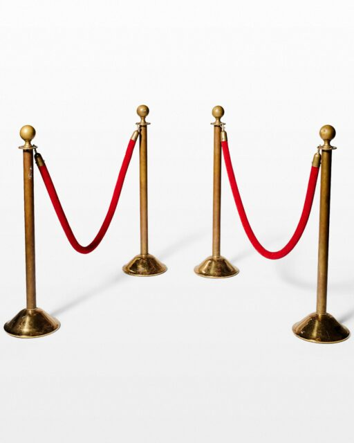 Front view of Velvet Rope Stanchion Set of 4